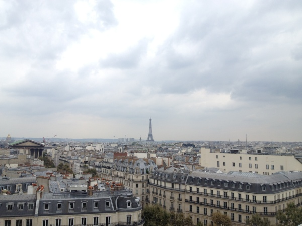 View from the café on the rooftop of Galeries Lafayette